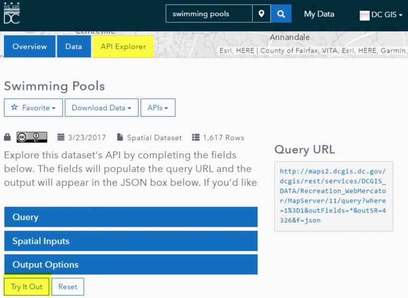Open Data DC - Using APIs