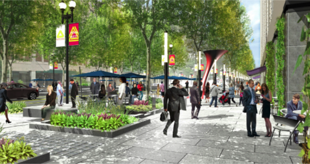 Rendering of Future of Penn Ave West