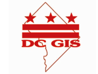 DC GIS with DC stars and bars against DC map outline