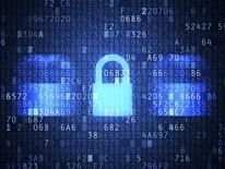 Information Security lock abstract